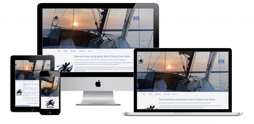 Voorvertoning website Trust Yachts